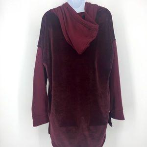 Splendid Tops - Splendid  Red Ruby Velour/French Terry Hoodie M